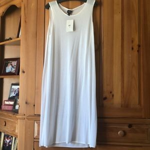 Eileen Fisher sheer overlay dress